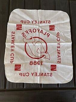 1988 New Jersey Devils/ Coca-Cola Handkerchief Flag Scarf St