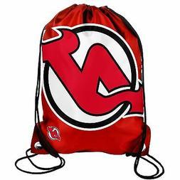 New Jersey Devils Drawstring Back Pack/Sack Gym Bag Tote NHL