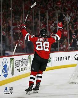 "Jack Hughes New Jersey Devils Unsigned Goal Celebration 8"" x"