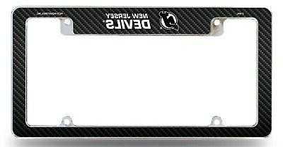new jersey devils chrome license plate frame