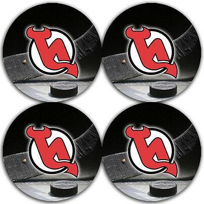 new jersey devils hockey rubber round coaster
