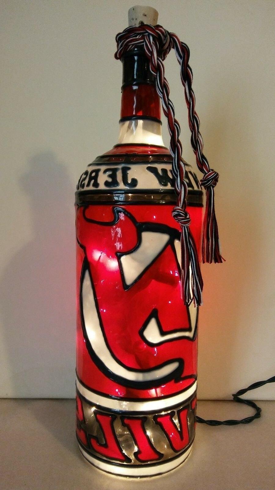 new jersey devils inspiered bottle lamp hand