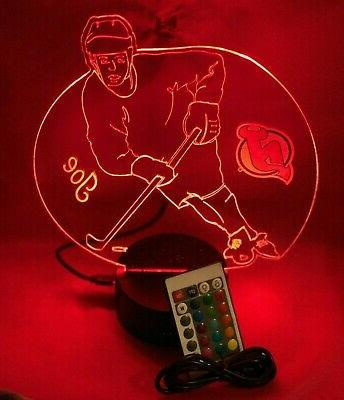 New Jersey Hockey Player Light Up Lamp LED and