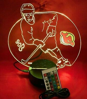 New Devils NHL Hockey Player Up Lamp Personalized and
