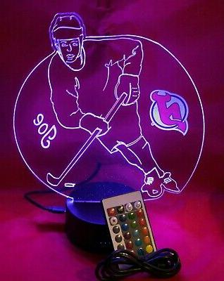 New Hockey Light Lamp NJ Personalized and Remote