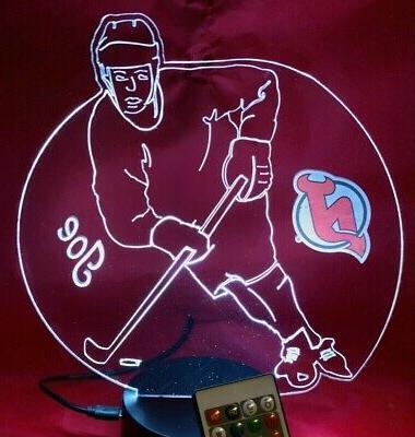 new jersey devils nhl hockey player light