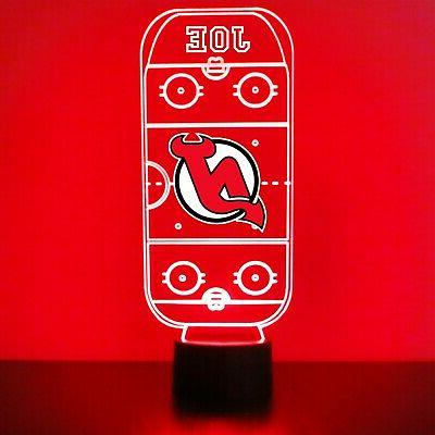 new jersey devils night light personalized free