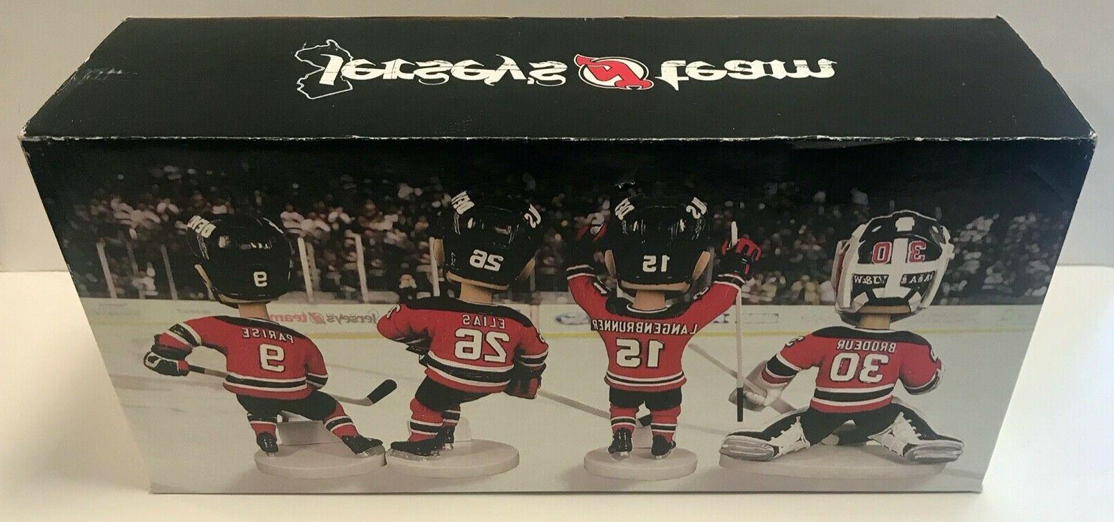 New Jersey Devils SGA 4 Bobblehead Set Martin Brodeur Parise Elias Langenbrunner