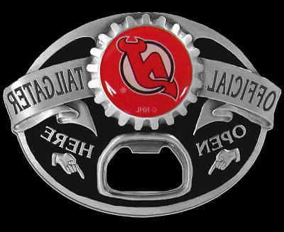new jersey devils tailgater bottle opener belt