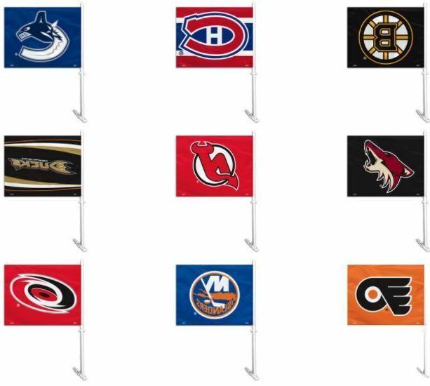 nhl team logo car window flag or