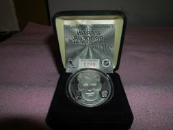 martin brodeur highland mint .999 fine silver coin