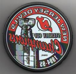 New Jersey Devils 1995 NHL Stanley Cup Champions Hockey Puck