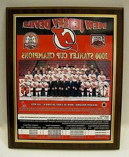 New Jersey Devils 2000 Stanley Cup Champions Plaque by Healy