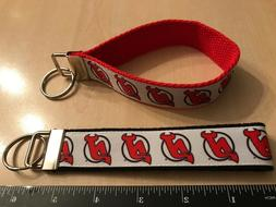 """New Jersey Devils - 5"""" x 1"""" Key Fob  on Red or Black"""