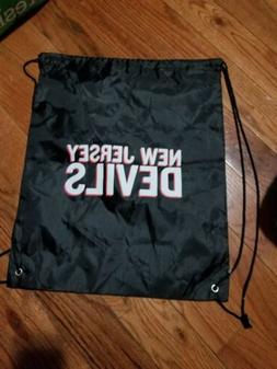 New Jersey Devils black Drawstring Bag