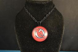 NEW JERSEY DEVILS Cabochon PENDANT -  NECKLACE  New!  hockey