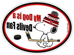 New Jersey Devils Car Magnet My Dog is a Devils Fan Hockey A