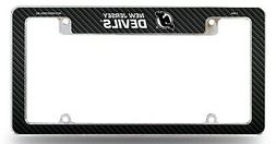 New Jersey Devils Chrome License Plate Frame Metal Tag Cover