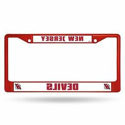 New Jersey Devils Chrome License Plate Frame Tag Cover Car/A