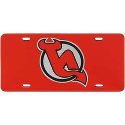 New Jersey Devils WinCraft Crystal Mirror License Plate