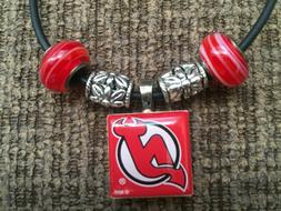 New Jersey Devils Hockey NHL LifeTiles Necklace with Beads N
