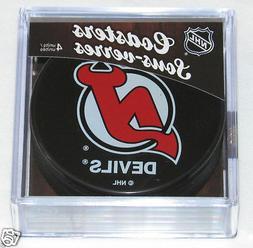 NEW JERSEY DEVILS Hockey TEAM LOGO 4 COASTERS SET NEW Made f