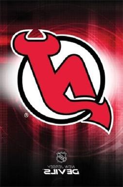 "New Jersey Devils Logo NHL poster 22.5 x 34"""