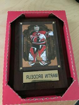 New Jersey Devils Martin Brodeur  Card Plaque Upper Deck New
