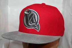 New Jersey Devils Mitchell & Ness NHL Team Solid StrapBack,H