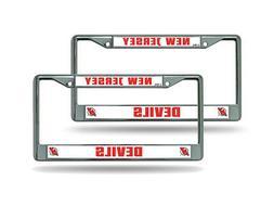 New Jersey Devils NHL Chrome Metal License Plate Frame - Set