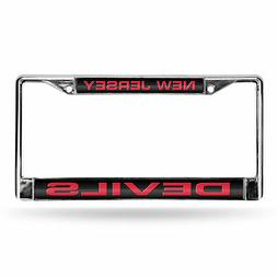 New Jersey Devils NHL Chrome Metal Laser Cut License Plate F