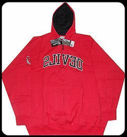 New Jersey Devils NHL Majestic Full Zip Hoodie Sweatshirt Re