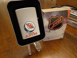 NEW JERSEY DEVILS NHL HOCKEY ZIPPO LIGHTER RETIRED DESIGN MI