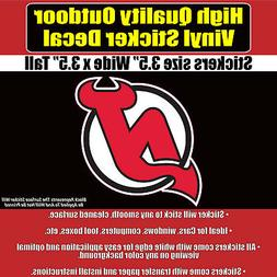 New Jersey Devils -NHL Hockey Vinyl sticker decal