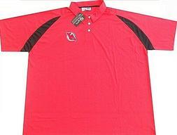 New Jersey Devils NHL Majestic Men's Dri Fit Polo Shirt Size