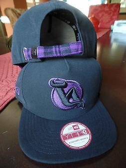 New Jersey Devils NHL Pop Unda Flat Bill Brim Black Purple P