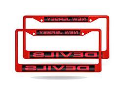 New Jersey Devils NHL  Red Metal Laser Cut License Plate Fra