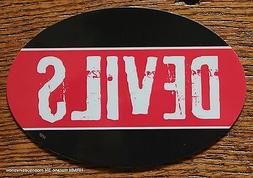 New Jersey Devils Oval Car Magnet Made In The USA Hockey Spo
