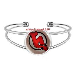 New Jersey Devils Team Logo Adjustable Bangle Bracelet
