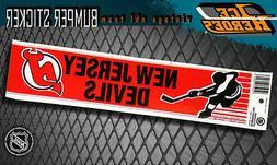 NEW JERSEY DEVILS Vintage Bumper Sticker - Unused - NOS - NM
