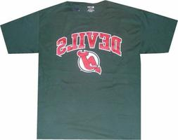 New Jersey Devils Vintage Dark Green Gear T Shirt    Clearan