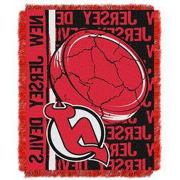 New Jersey Devils Woven Jacquard Tapestry Throw Blanket Spre