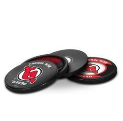 NEW NEW JERSEY DEVILS HOCKEY PUCK COASTERS SET IN CASE