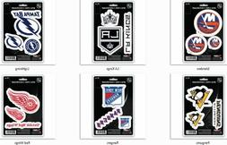 """NHL Decals Set of 3 Sheet is 5 1/2"""" x 8"""" by Team ProMark -Se"""