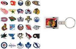 nhl domed keychain choose your team