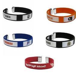 NHL Fan Band Bracelet Wristband Logo String Cuff Hockey Pick