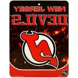 """NHL Hockey New Jersey Devils 8.5""""x11"""" Plastic Wall Street Si"""