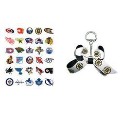 nhl mini bow keychains choose your team