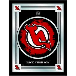 "NHL - New Jersey Devils 17"" x 22"" Logo Mirror Hockey Team Lo"
