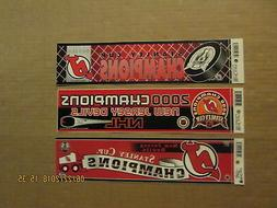 NHL New Jersey Devils 1995 2000 & 2003 Stanley Cup Champions